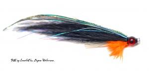 En flue som Henrik Kassow er opphavsmannen til. Med øyne og epoxy hode. Bundet av Espen Pedersen