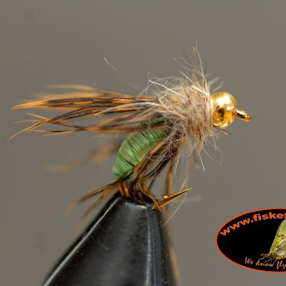 caddis larva green