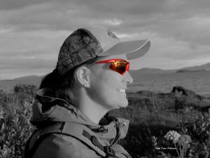 Eva med sine nye LTS solbriller